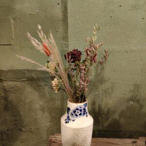 Bloesem vaas met droogbloemen