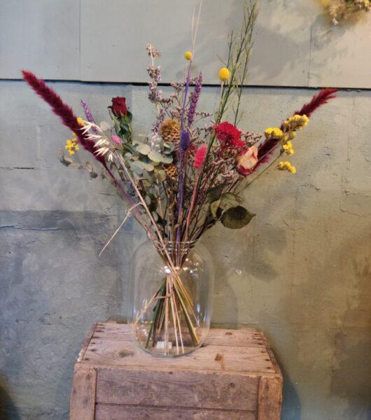 Droogbloem boeket kleurrijk