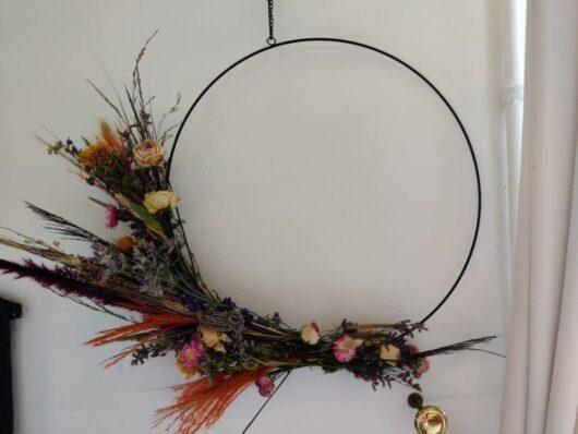 Droogbloemen krans