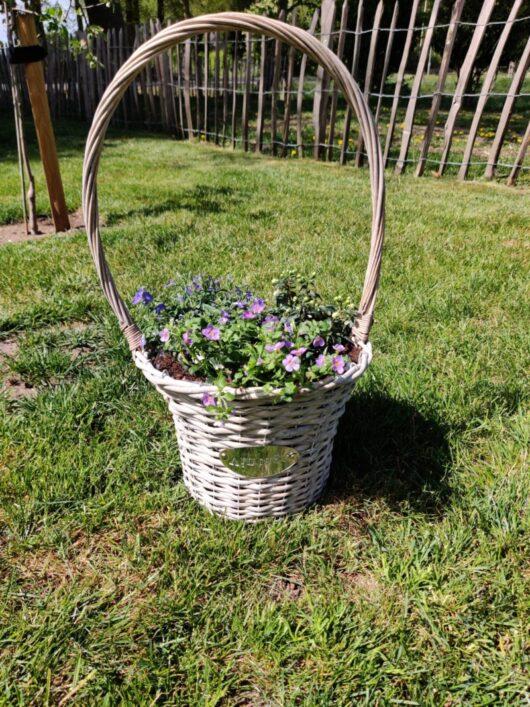 Mand met planten - groot