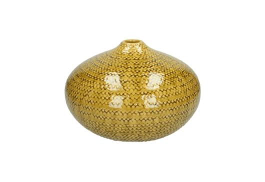Keramiek vaas geel