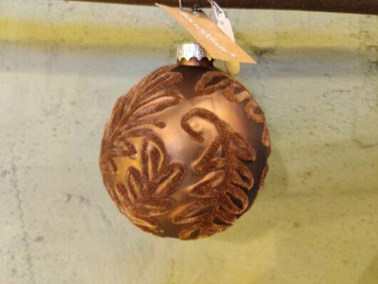 Kerstbal bruin