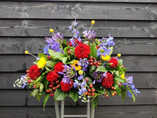Afscheidsbloemen kleurrijk