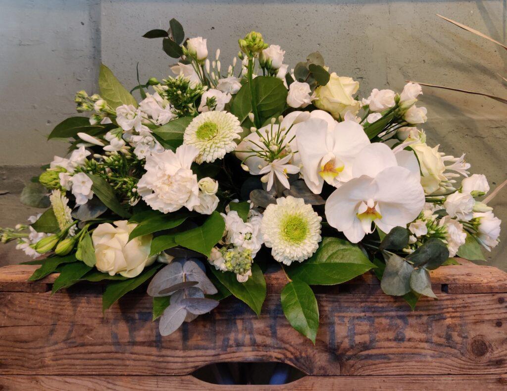 Witte Afscheidsbloemen