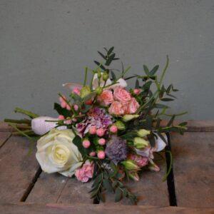 Bruidswerk roze-wit