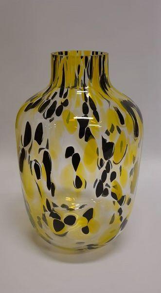 Cheetah vaas geel zwart 28 cm