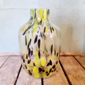 Cheetah vaas geel 28 cm