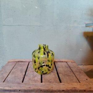 Cheetah vaas geel 19,5 cm