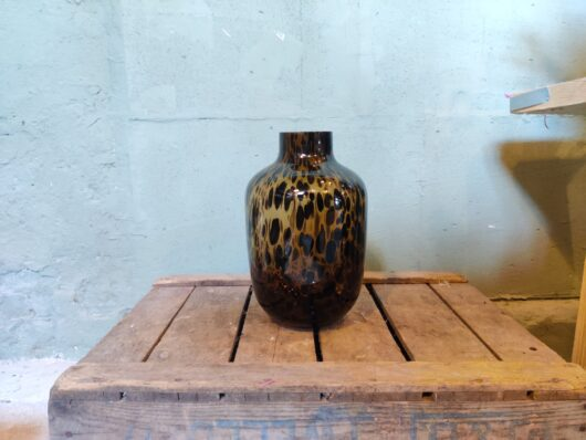 Cheetah vaas 28 cm