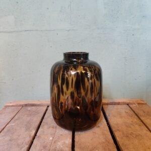 Cheetah vaas - 22 cm