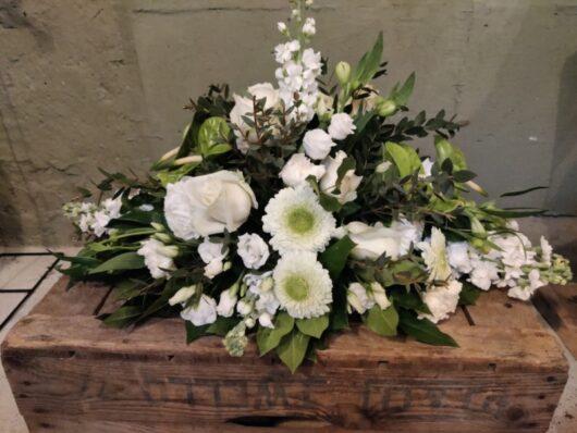 Afscheidsbloemen wit