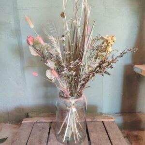 Droogbloem boeket roze naturel