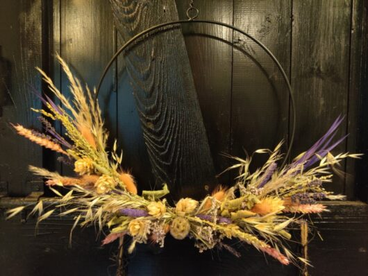 Droogbloemen krans 30 cm