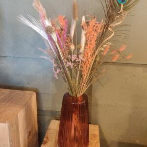 Vaas Dalina met droogbloemen boeket