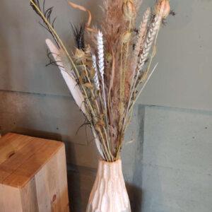 vaas Inma met droogbloemen boeket